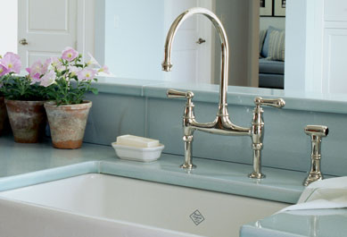 Here Is The Same Faucet In Brushed Nickel Finish (paired With A Stainless  Steel Farmhouse Sink) In A Kitchen That Steve Designed.