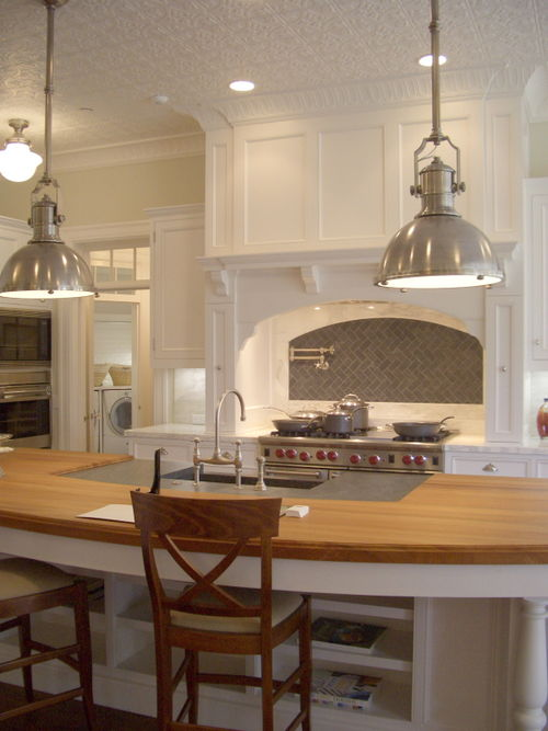 industrial pendant lighting for kitchen. rounded cone kitchen, Kitchen design
