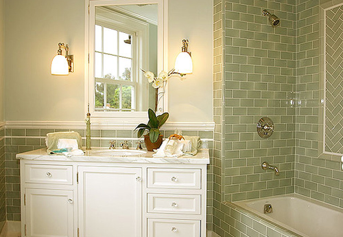 and bathrooms with tiled wainscot picture picture with bathroom tile  wainscoting