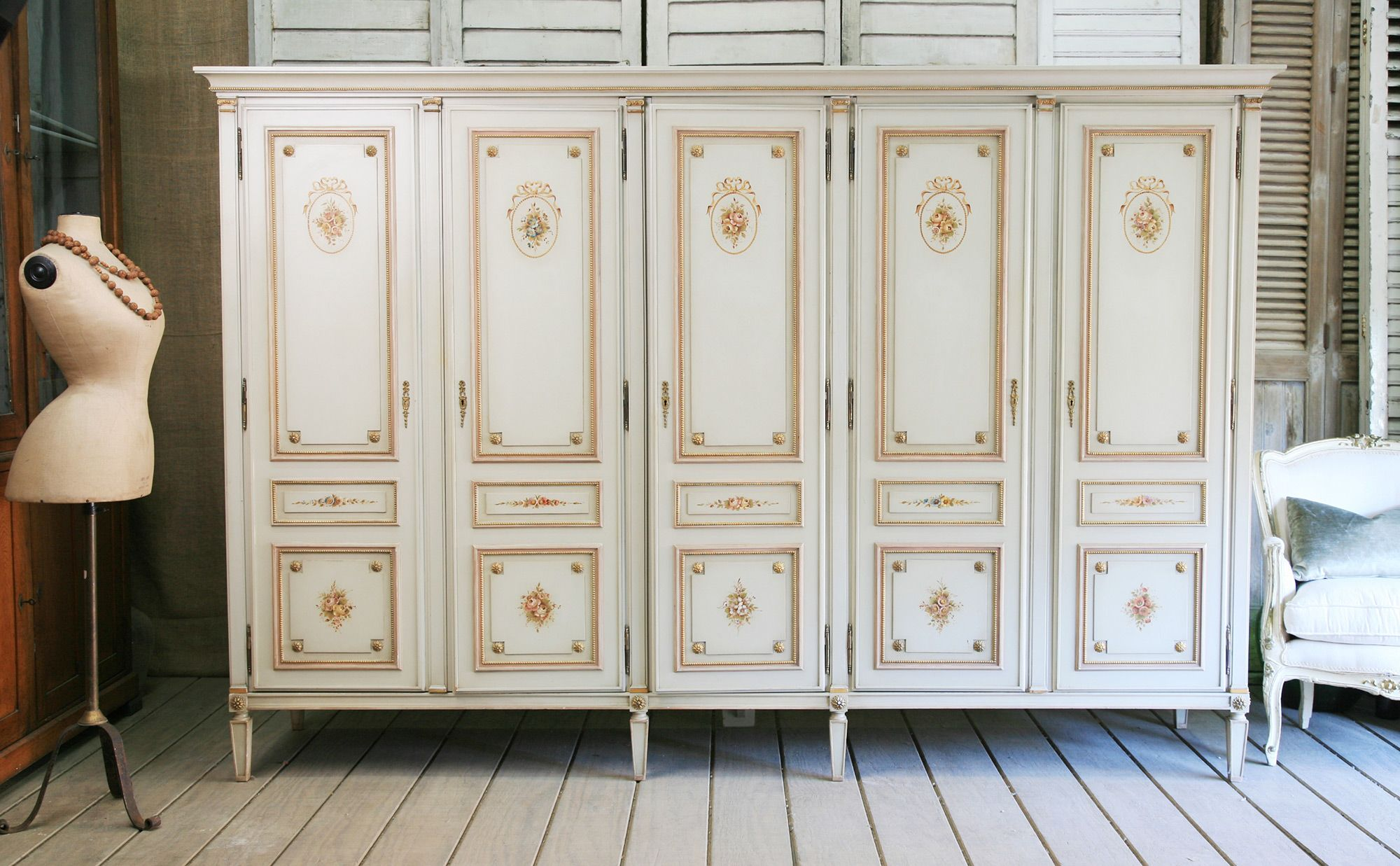 Need Some Stunning Storage? It Doesnu0027t Get Better Than This Painted Louis  XVI Armoire.