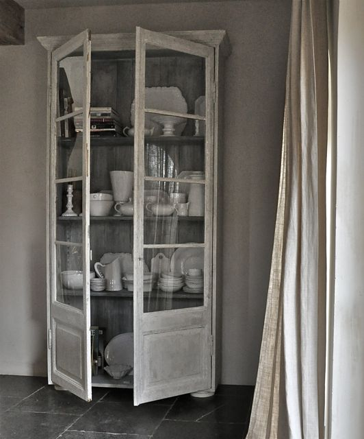 Display cabinet bookcase France 19th H2244 W120 D32 open
