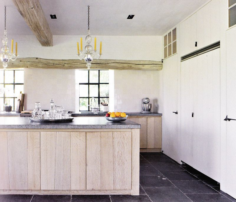 White Oak Kitchen Countertops: Our Belgian Holiday: Visiting The Home Of Mark And Hilde