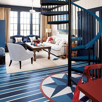 Painted floor Brooke