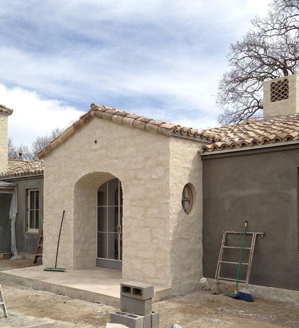 Patina Farm Update Tile Chimney Exterior Stucco And The