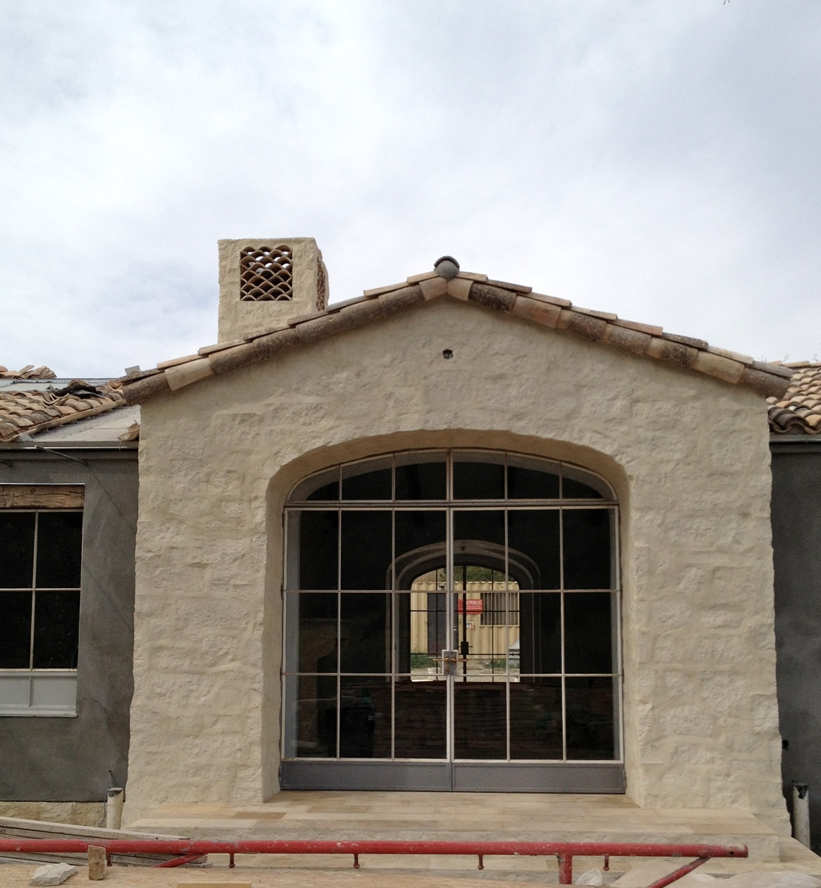 patina farm update: tile chimney, exterior stucco and the wood ...