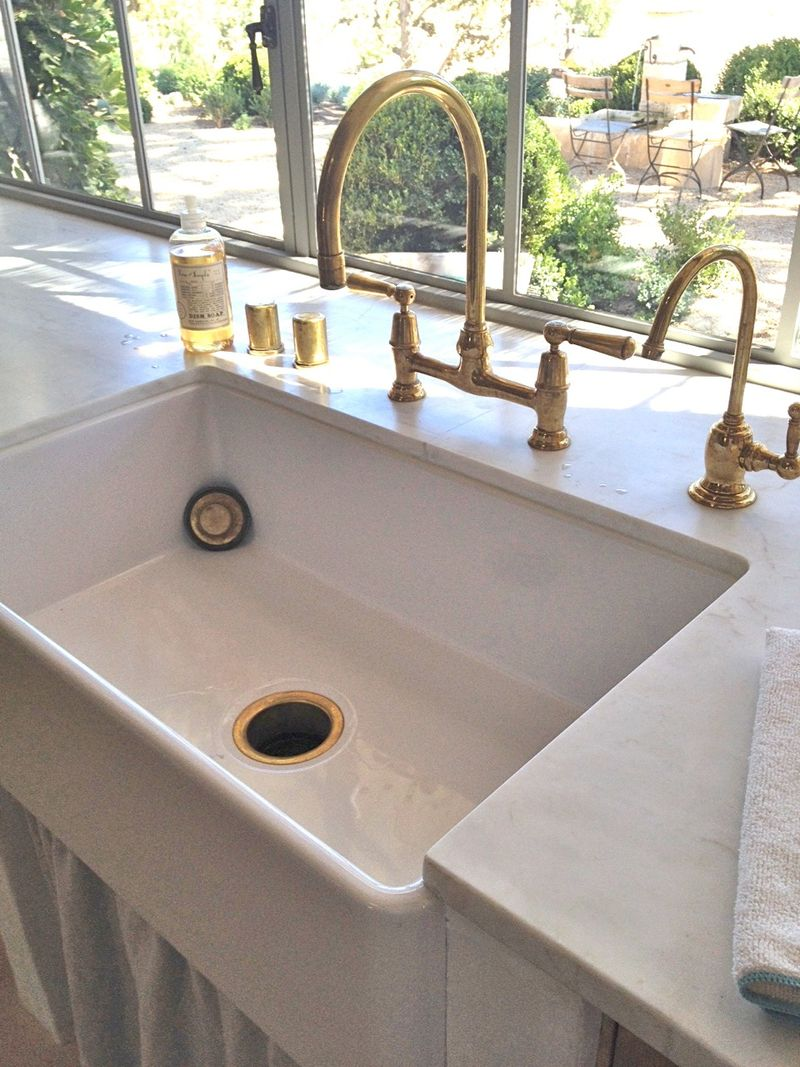 Catchpole And Rye  Hackberry Hill - Brass faucets kitchen