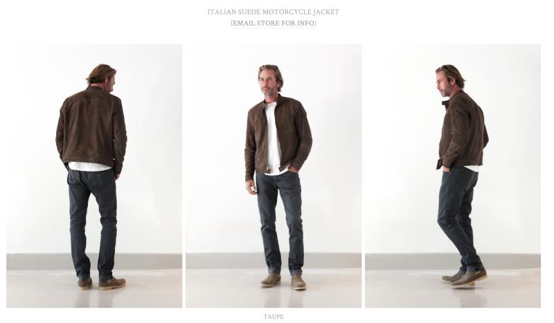 Giannetti Men's Italian Suede Moto Jacket