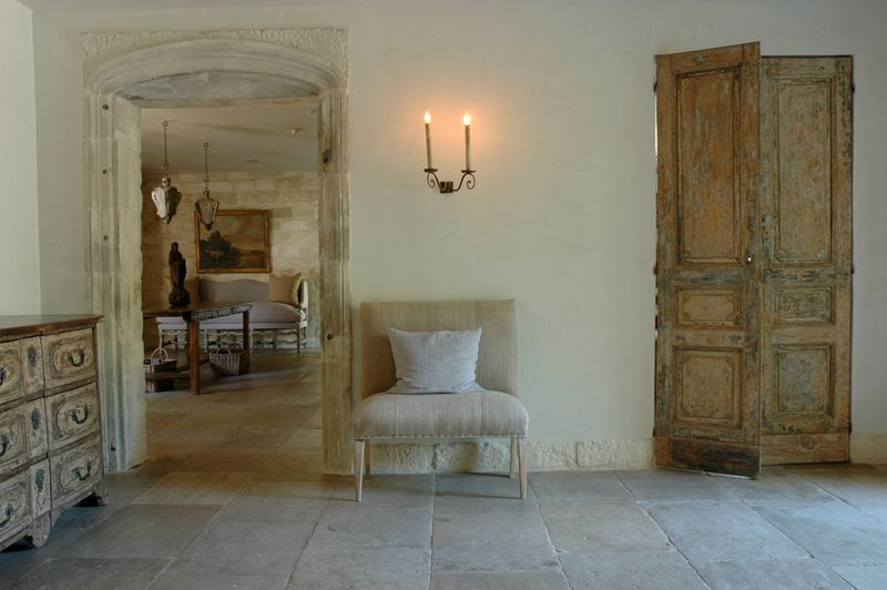 Chateau Domingue - Ruth Gay's exquisite home with reclaimed antique stone floors and treasures