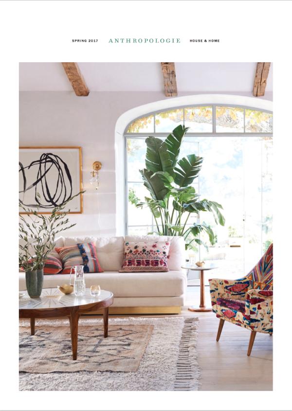 Patina farm anthropologie style velvet linen for Anthropologie living room ideas